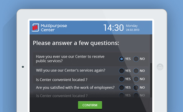 Multipurpose Center's clients questionarie